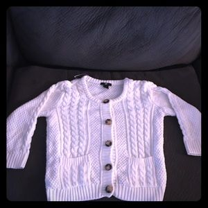Sml Perfect condition H&M white button up sweater